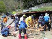 東日本大震災支援活動-気仙沼唐桑半島